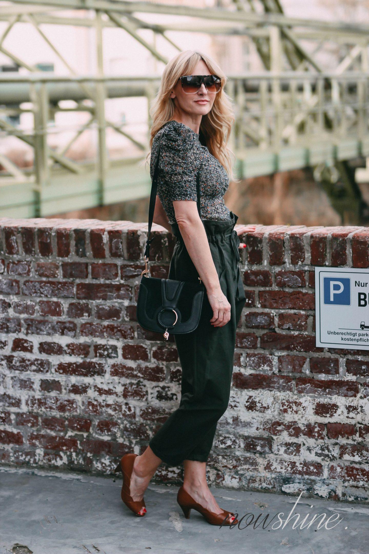 Sézane Onlineshop Erfahrungen - Retouren -Nowshine ü40 Fashion Blog - Schuhe Cognac