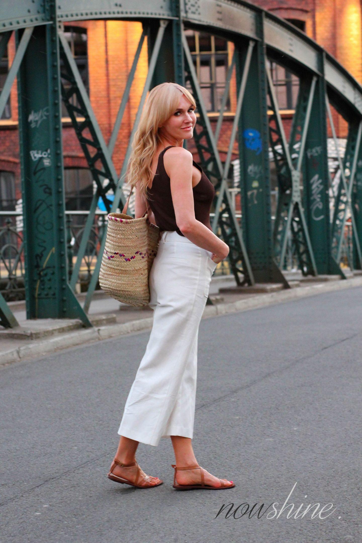 H&M Premium Sandalen in Cognac - Nowshine ü40 Fashion Blog