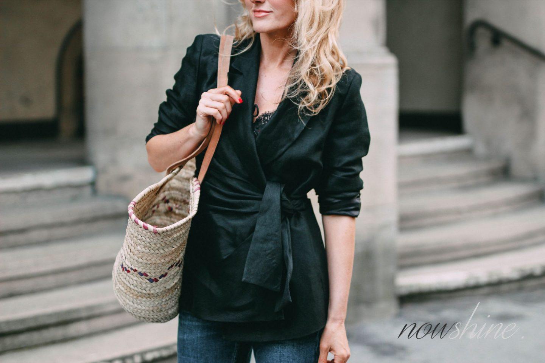 Der Trend Leinen - Leinenblazer von Zara mit Schleife - Nowshine ü40 Blog