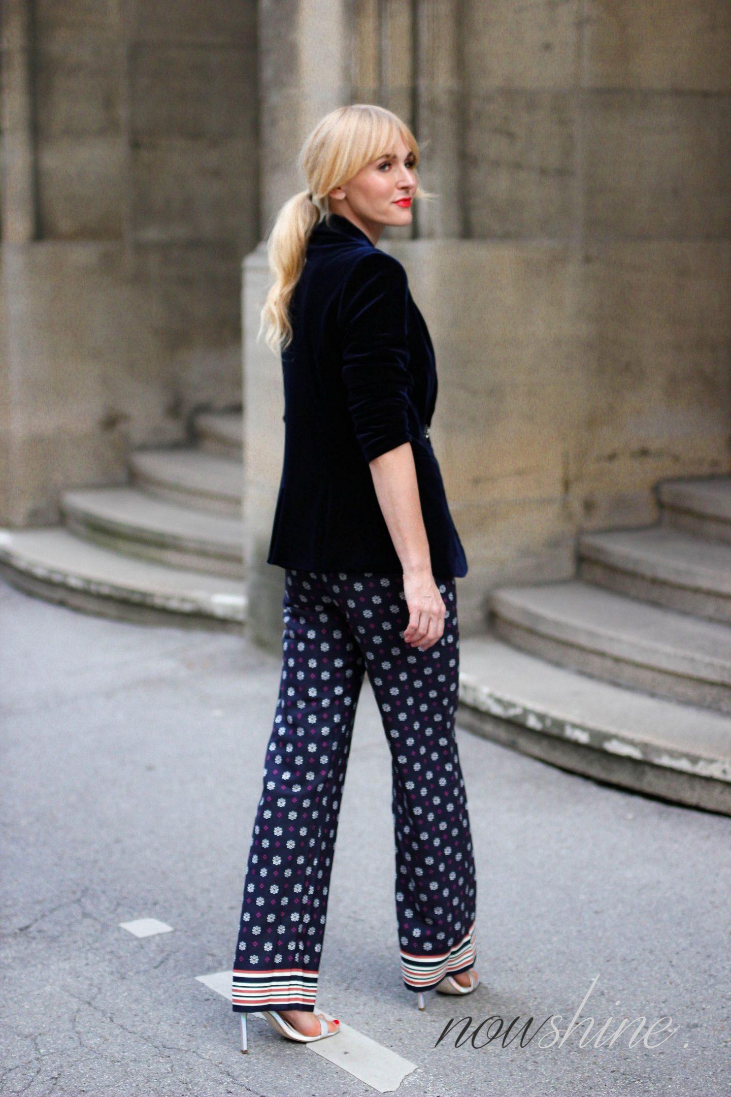 Saphirfarbener Samtblazer zur Hose im Pyjama-Look - WENZ - Nowshine Fashion und Mode ü40