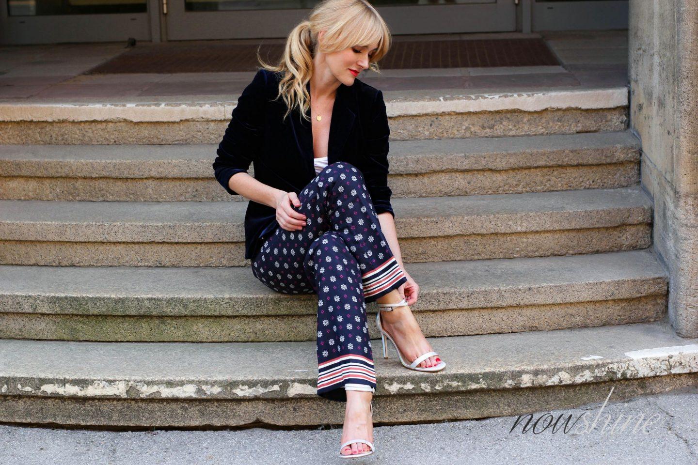 Saphirfarbener Samtblazer zur Hose im Pyjama-Look - WENZ Versandhaus - Nowshine ü40 Fashion und Mode