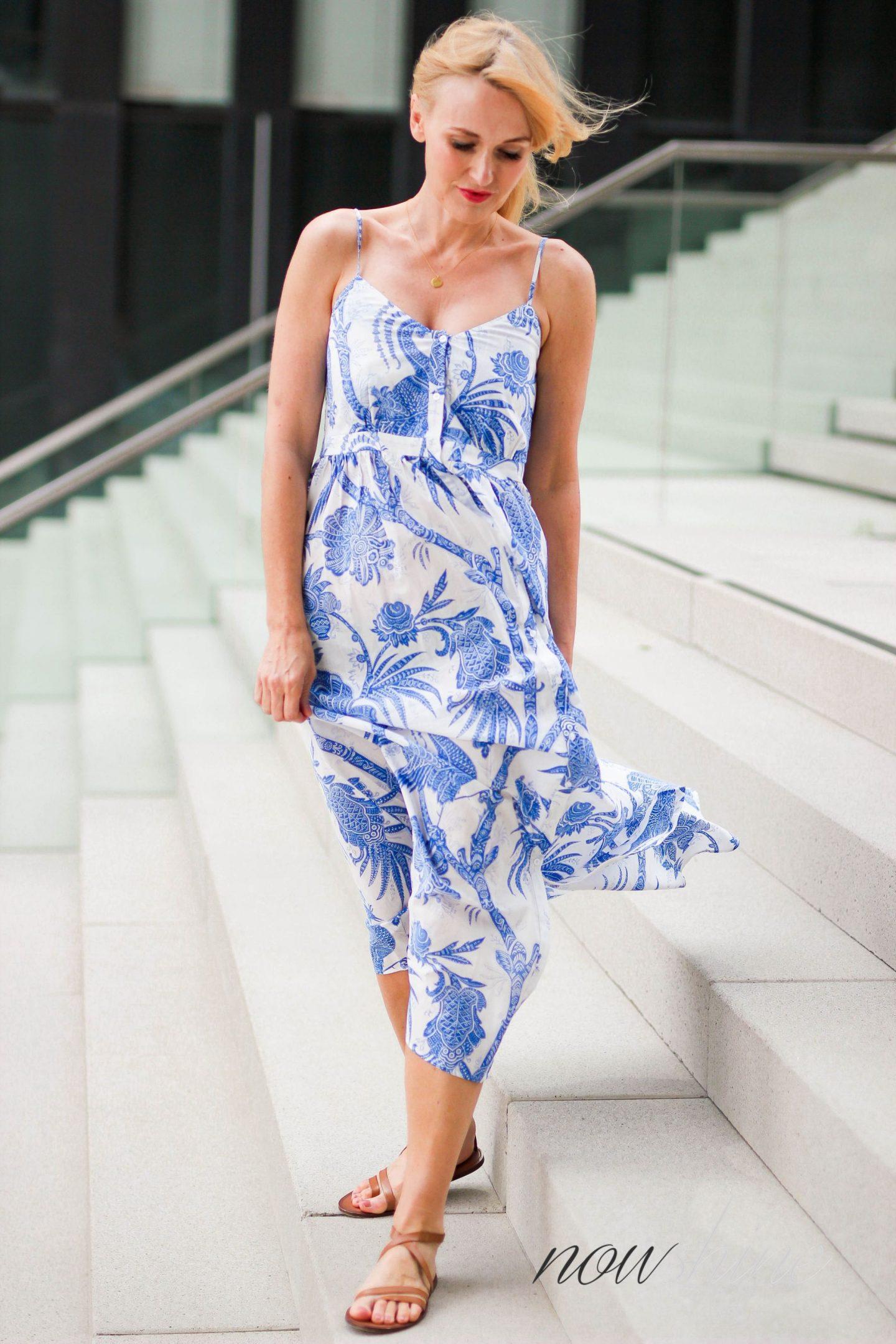 Feminine Maxikleider für den Sommer - Nowshine im Maxikleid von H&M Trend - Modeblog ü40