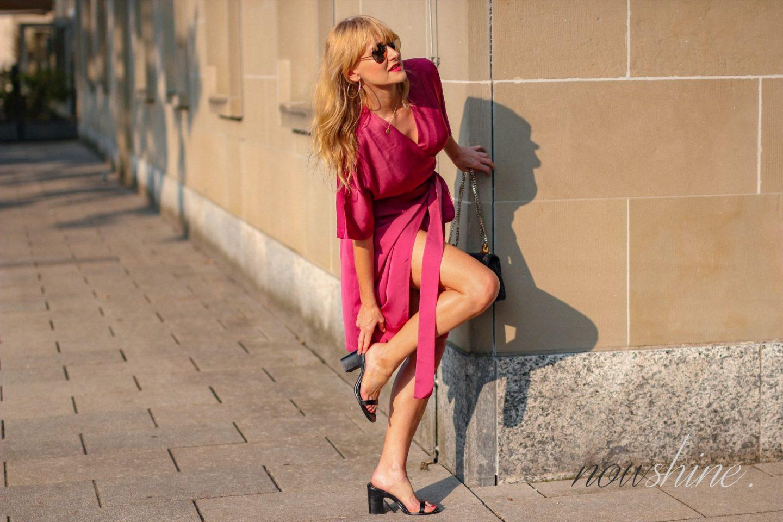 Wrap Dress - Wickelkleid im Kimono Stil für den Sommer - Nowshine ü40 Blog
