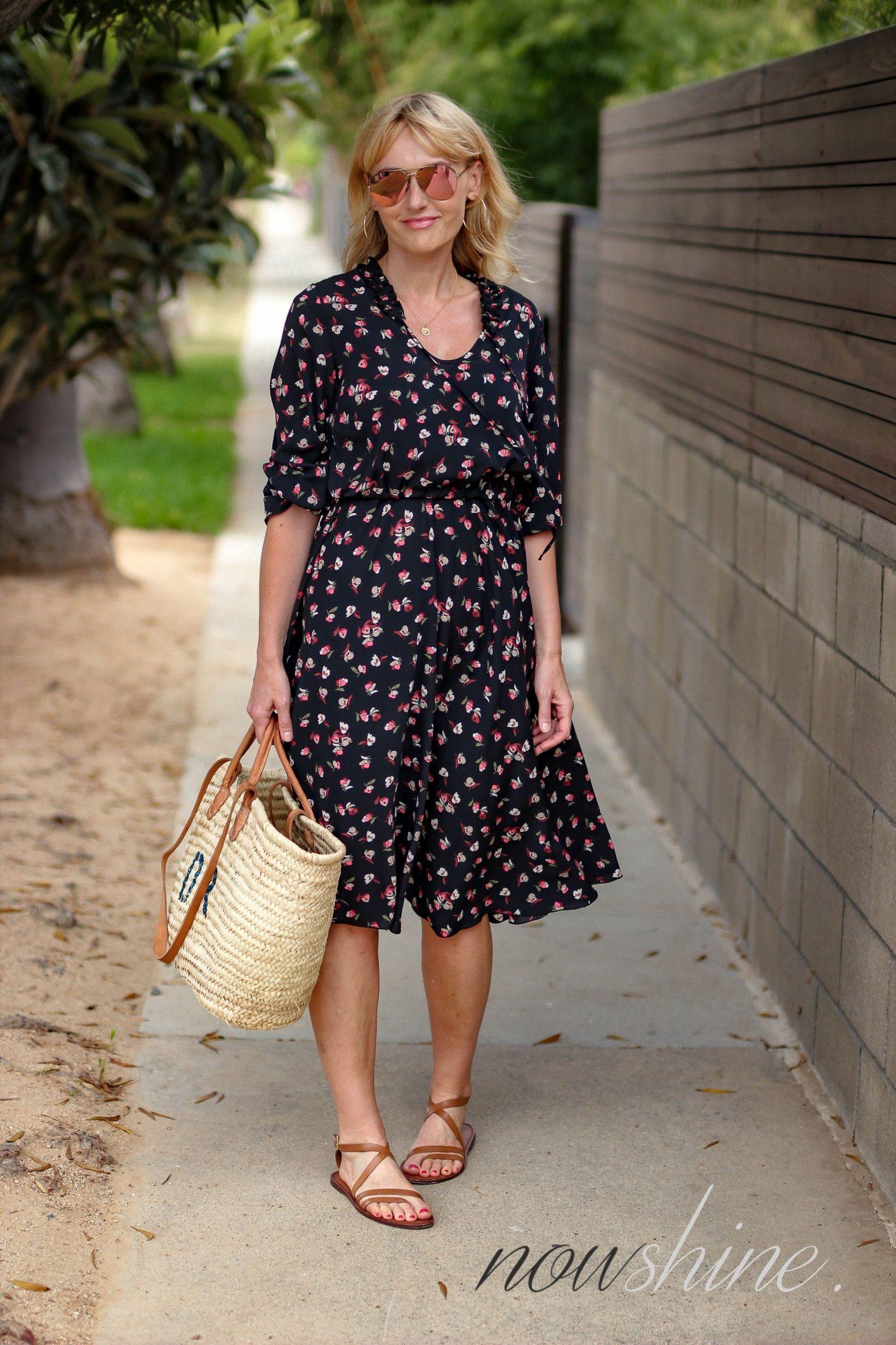 Aus dem WENZ Katalog - Kleid mit Blumen in Venice, Los Angeles, Kalifornien - Nowshine ü 40 Reiseblog