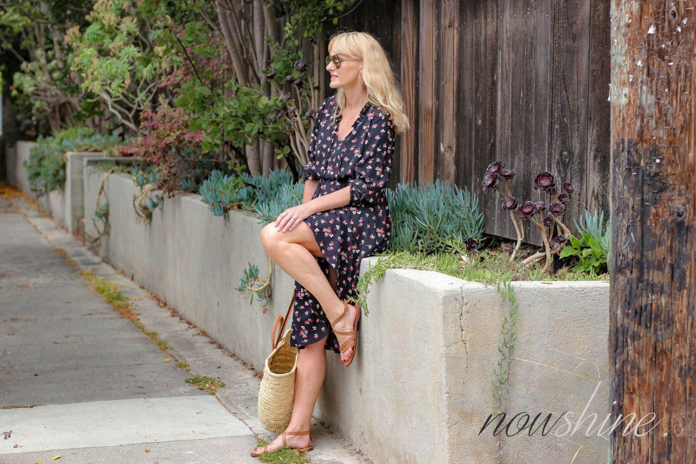 Aus dem WENZ Katalog - Knielanges Kleid mit Blumen -Nowshine ü 40 Mode