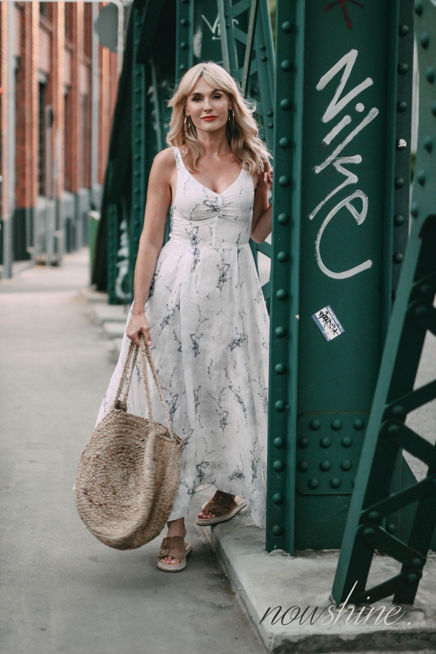 Conscious Exclusive 2108 - Kleid von H&M - Beutelatsche aus Jute von Mango - Nowshine Mode ab 40