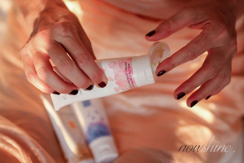 Trockene Haut nach dem Urlaub - Creme für Gesicht und Körper mit Ziegenbutter von Kurland - Nowshine ü 40 Beauty Blog