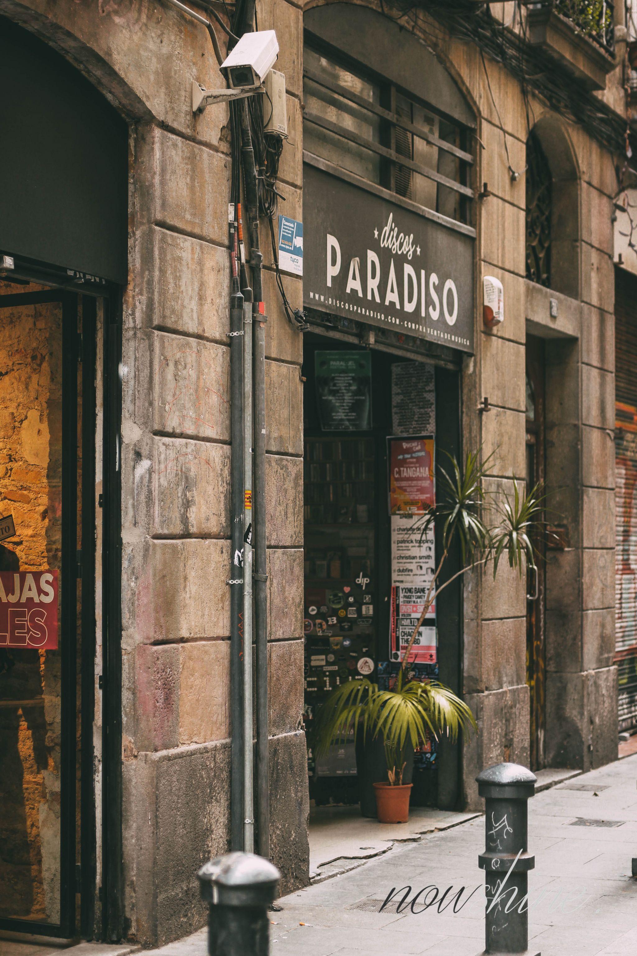 Kurztrip nach Barcelona - Nowshine Reisetipps - Plattenladen Discos Paradiso