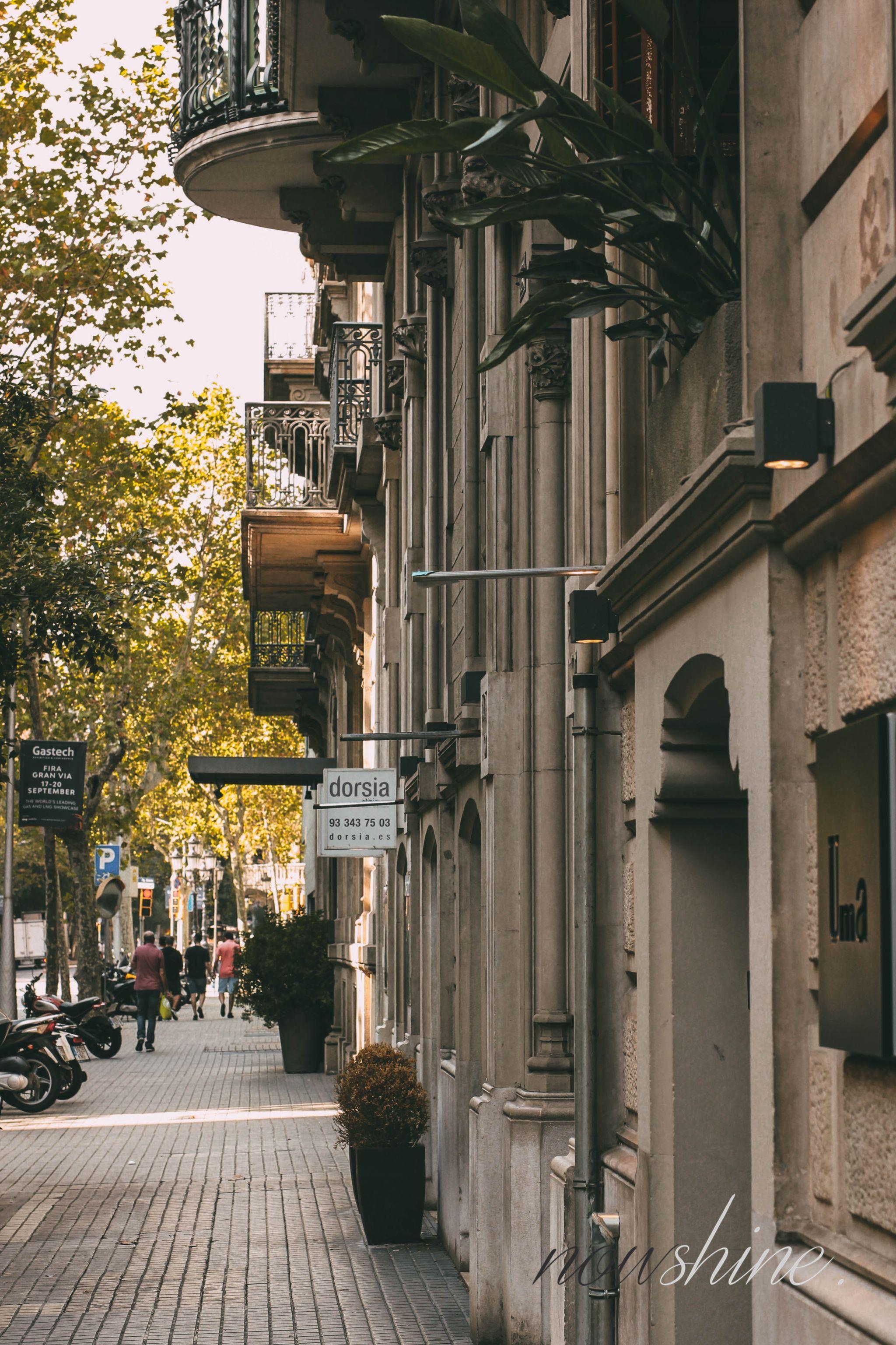 Kurztrip nach Barcelona - Nowshine Reisetipps - Straße in Spanien
