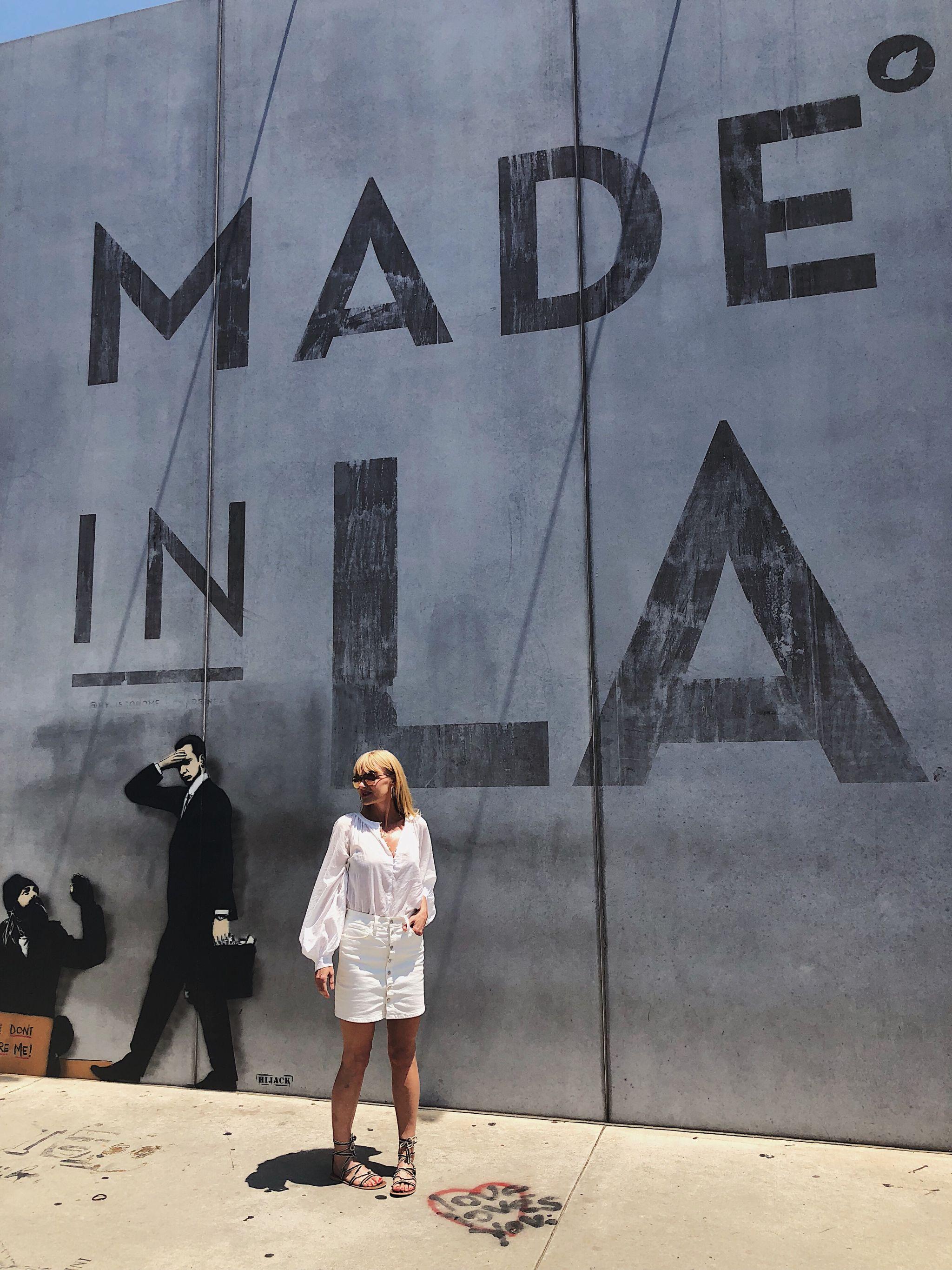 Los Angeles Tipps und Empfehlungen - Made in LA Wall Melrose Avenue - Reiseblog ü 40