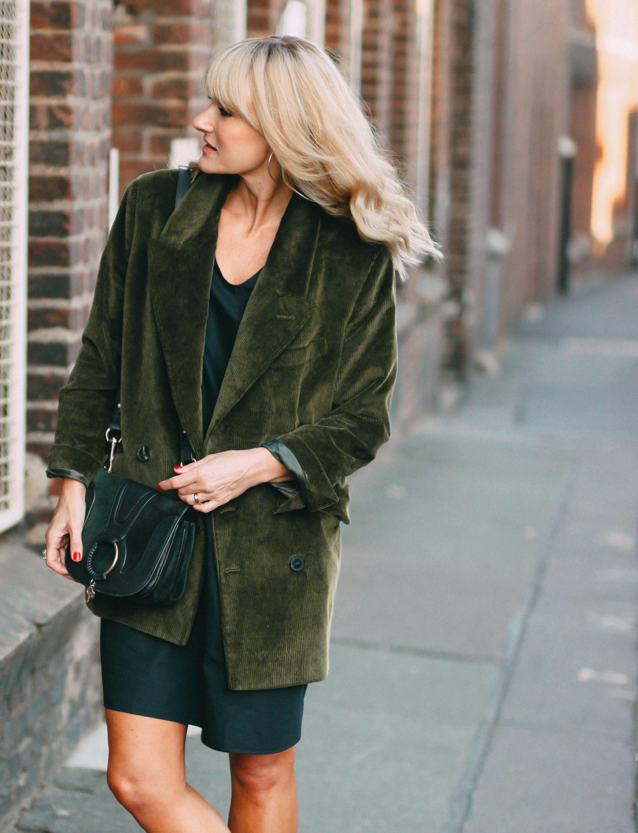 Nowshine ü 40 Modeblog - Herbstoutfit - Cordblazer - Chloe Tasche