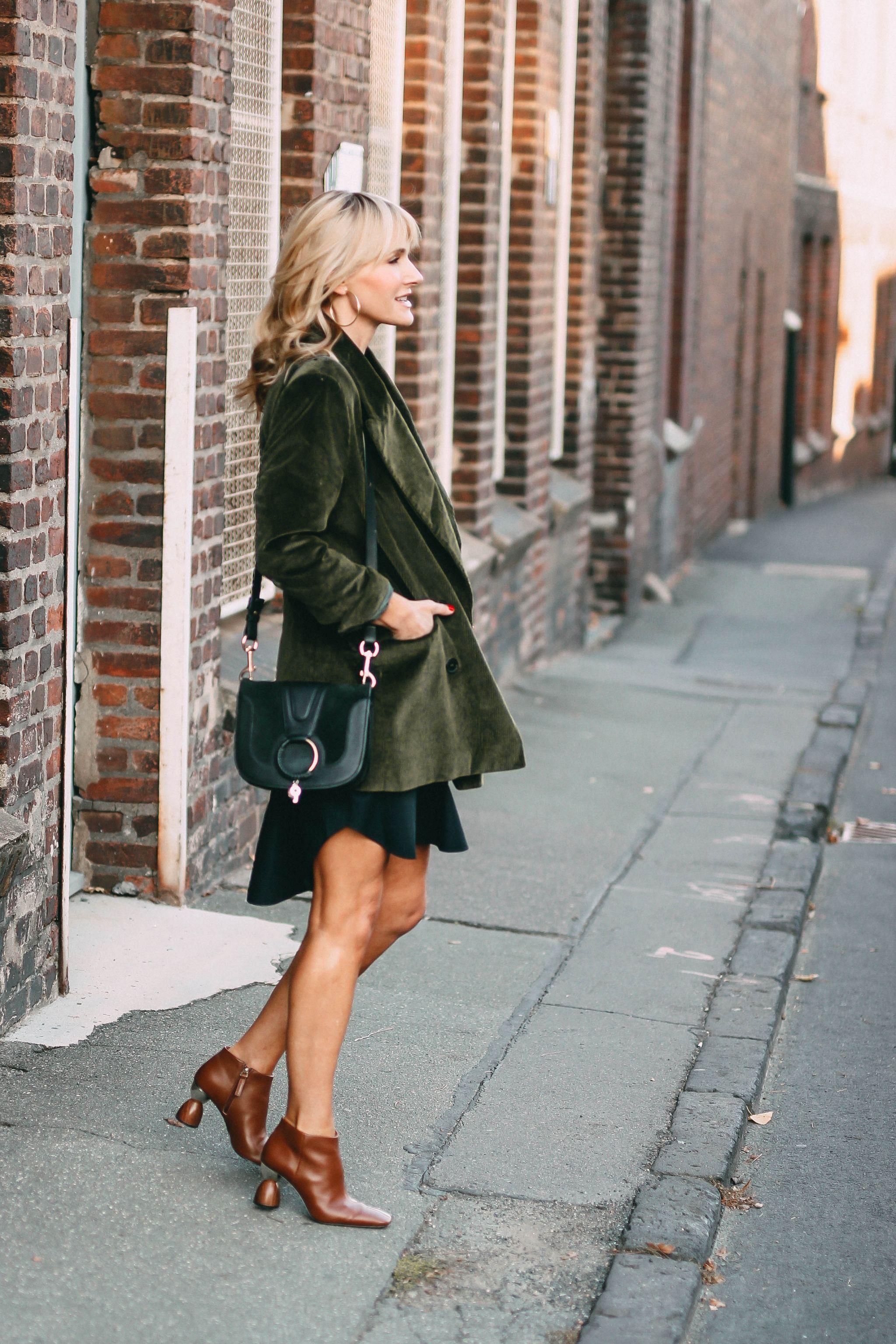 Nowshine ü 40 Modeblog - Herbstoutfit - Cordblazer - der Herbst und ich