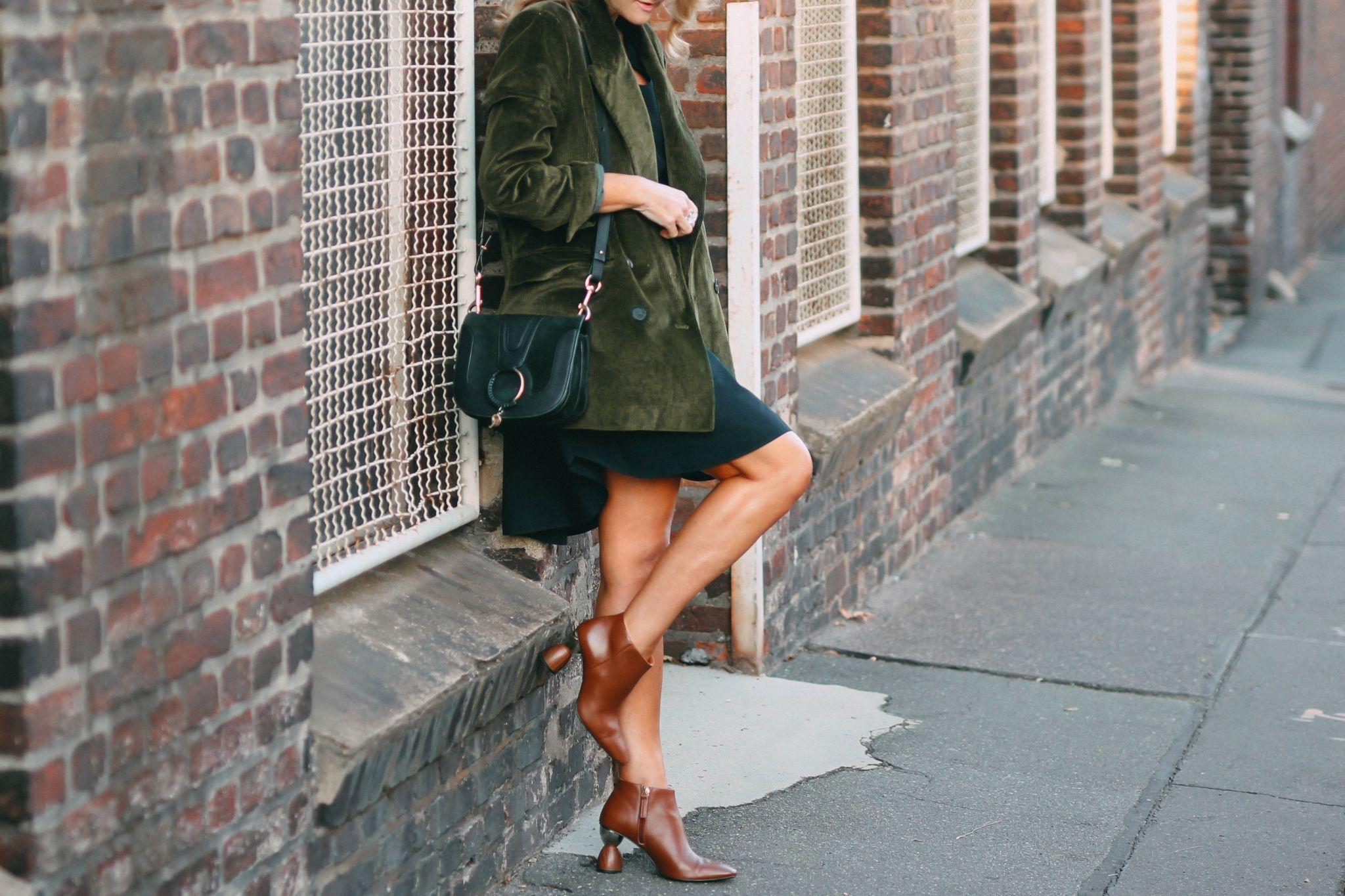 Nowshine ü 40 Modeblog - Herbstoutfit - grüner Cordblazer - der Herbst und ich