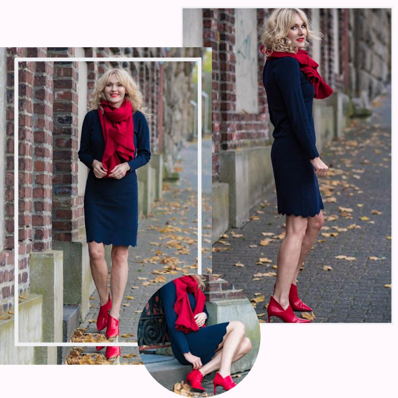 Ouftit_Weihnachtsfeier-Dresscode_festlich-Firmenparty-Büro-Strickkleid Bonita