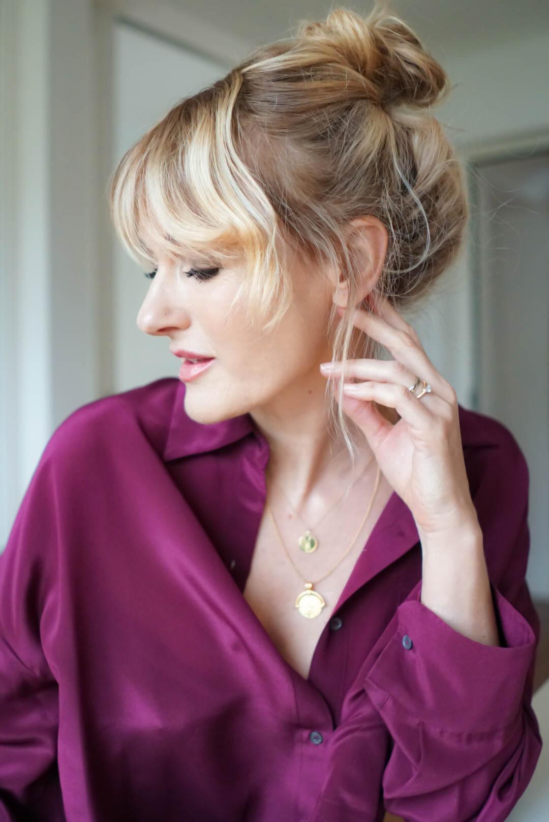 Dutt machen-Aleitung und Video-perfekter messy Bun-Nowshine Haare-Ü40 Beauty Blog