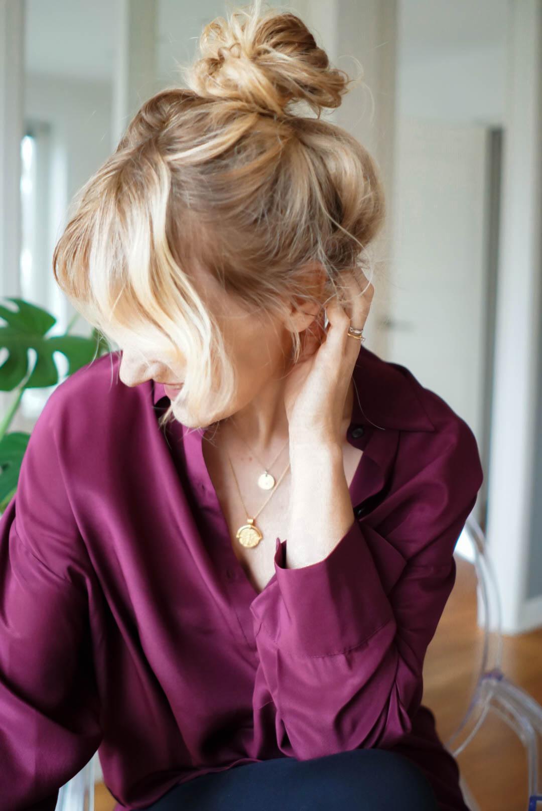 Dutt machen-perfekter messy Bun-Nowshine Haare-Ü40 Beauty Blog