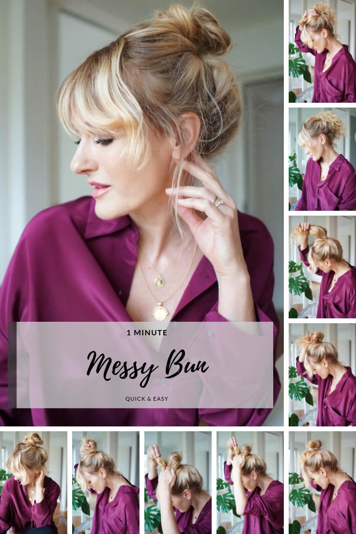 Dutt machen-Anleitung-perfekter messy Bun-Nowshine Haartipps-Ü40 Beauty Blog