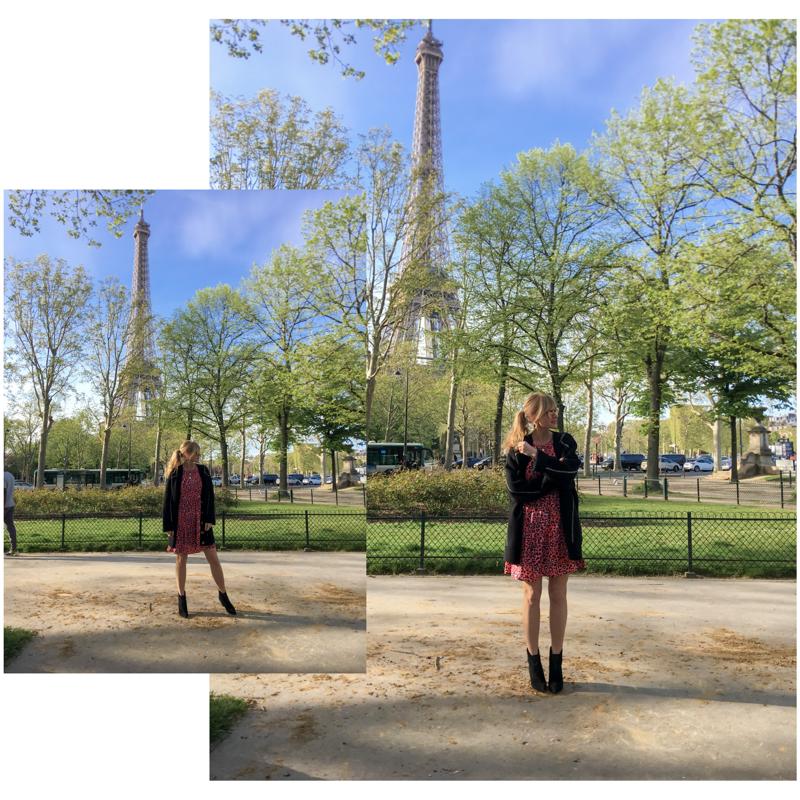 Eifelturm im Frühling - Nowshine in Paris in Kleid von WENZ