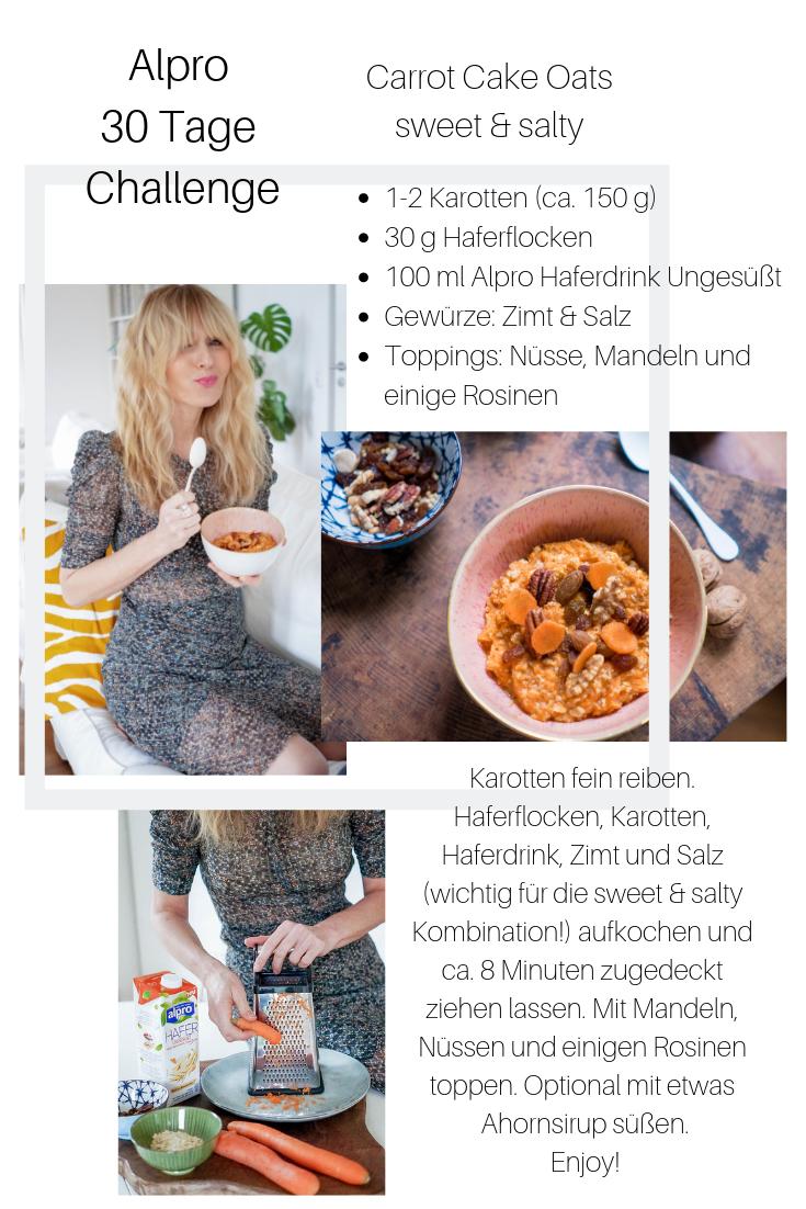 Rezept für Haferflocken mit Möhren - Zuckre Balance mit Alpro - weniger Zucker essen - 30 Tage Challenge zur Zuckerbalance