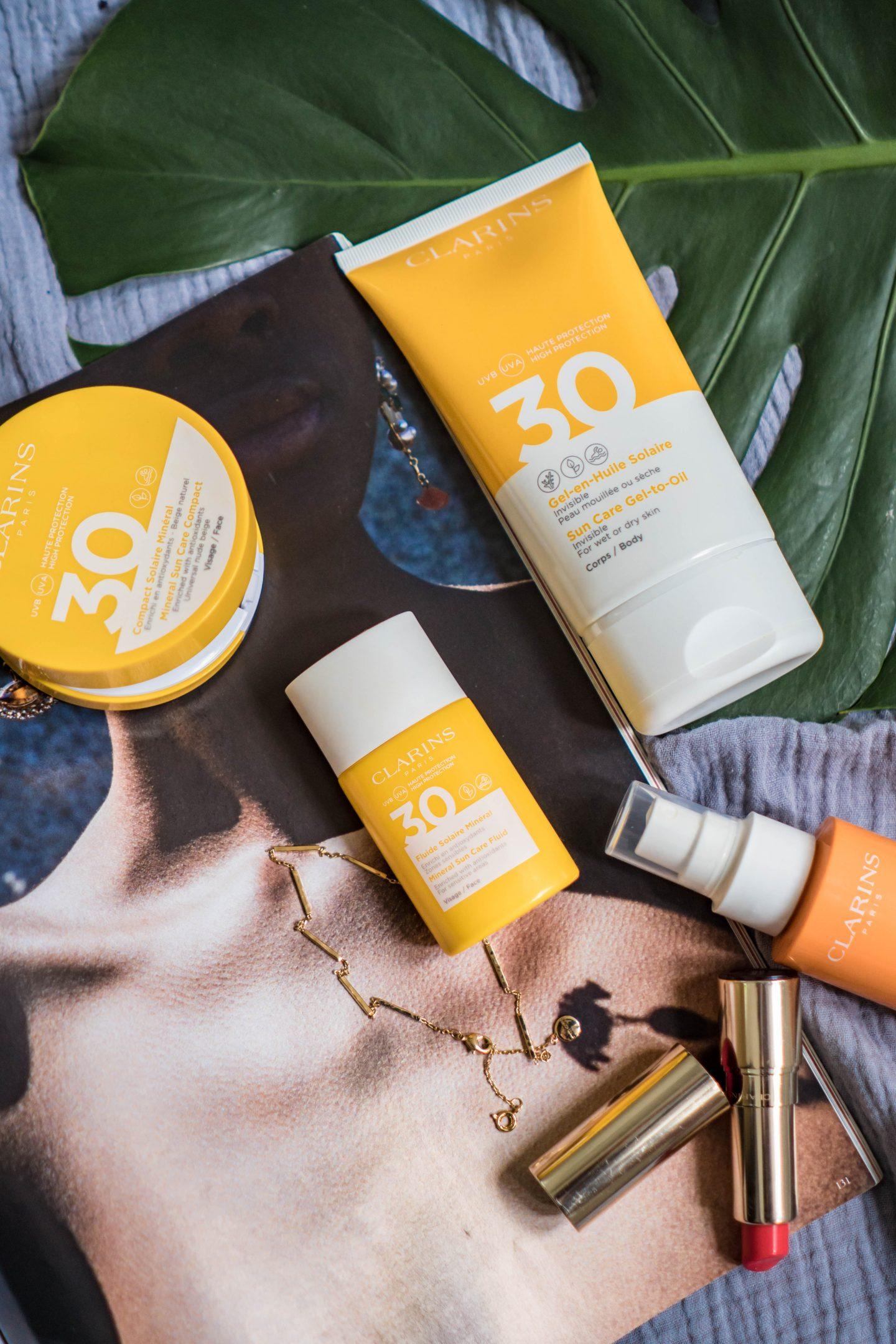 Der neue überarbeitete Sonnenschutz von Clarins - Erfahrungen Tipps von Nowshine Beauty Bloggerin über 40