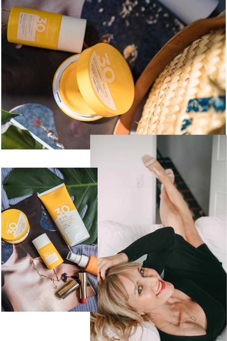 Sonnenschutz von Clarins - Erfahrungen Tipps von Nowshine Beauty Bloggerin über 40