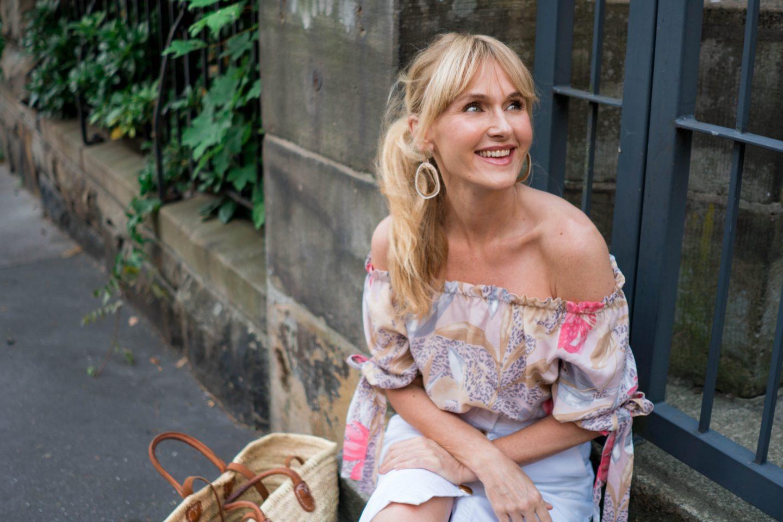Sommerlook 2019 von Wenz, Nowshine in Off_Shoulder Bluse, Fashionblog ü 40