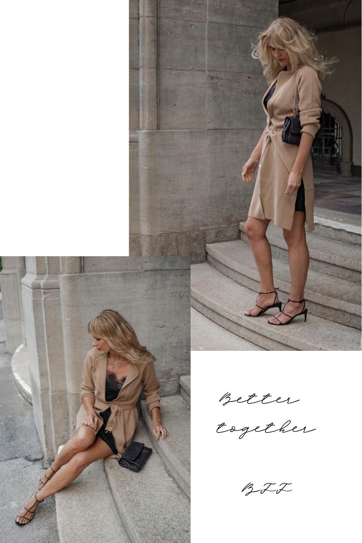 Gewinne einen Styling-Tag mit der besten Freundin-Strickjacke in Beige von WENZ, Dorota Retterath Nowshine Mode, Beauty und Lifestyle Blog
