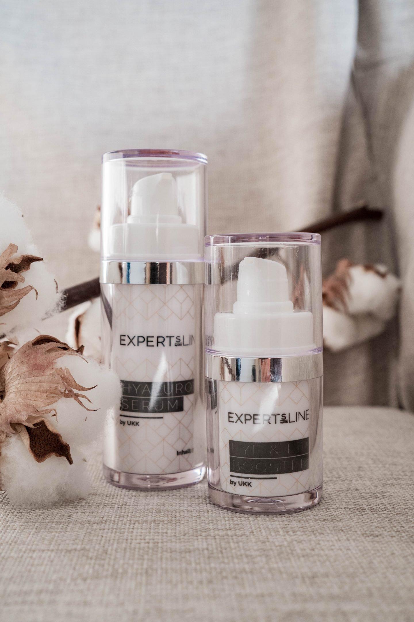 Beautyblog - ExpertsLine - Veralice - beste Anti-Aging Produkte - beste Inhaltsstoffe - Hyaluronserum - Eye and Lip Booster - Argireline - Beta Glucan - Nowshine