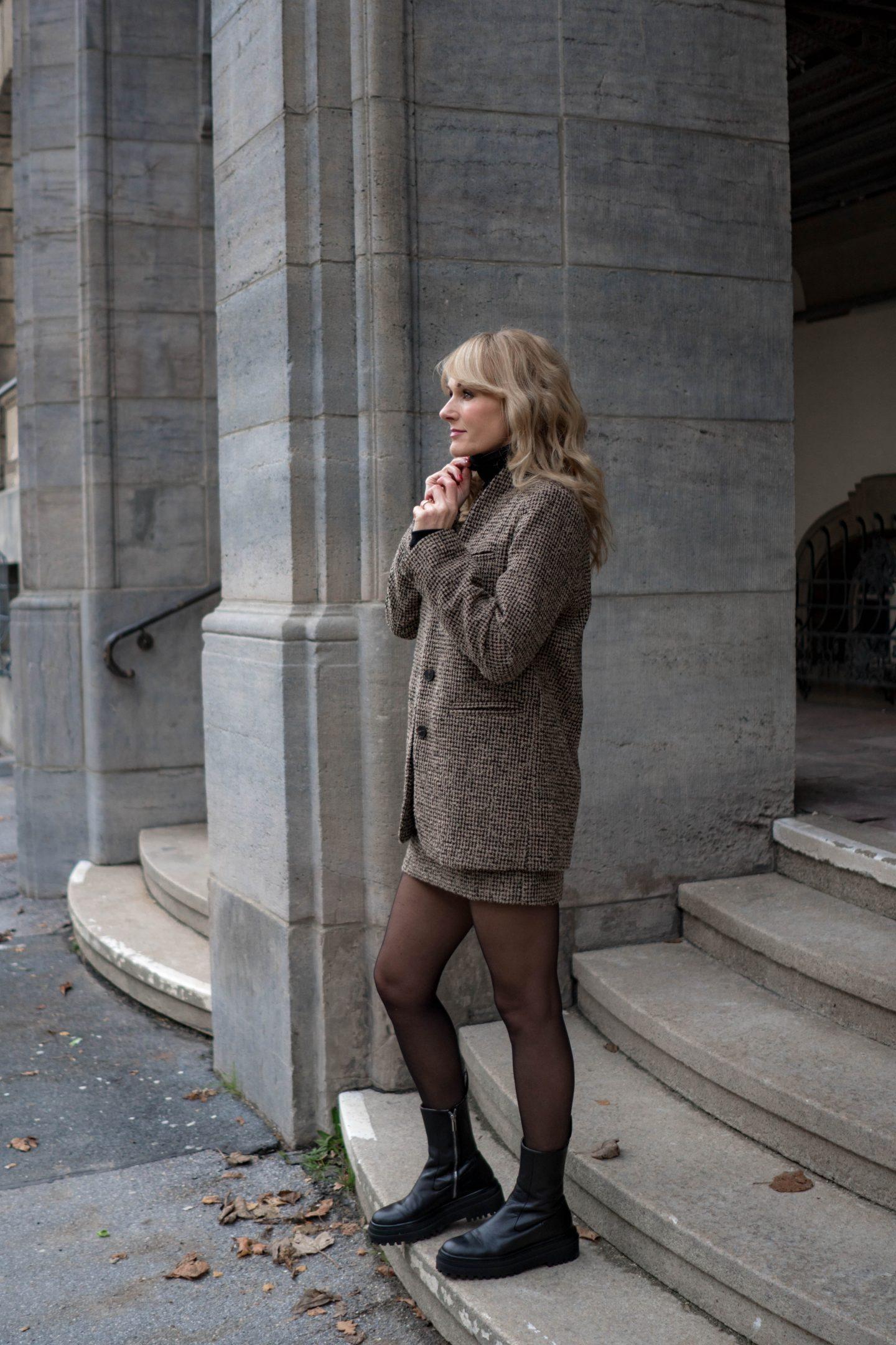 Klobige Chelsea Stiefeletten wie Balenciaga von Zara - Nowshine Fashion Blog über 40