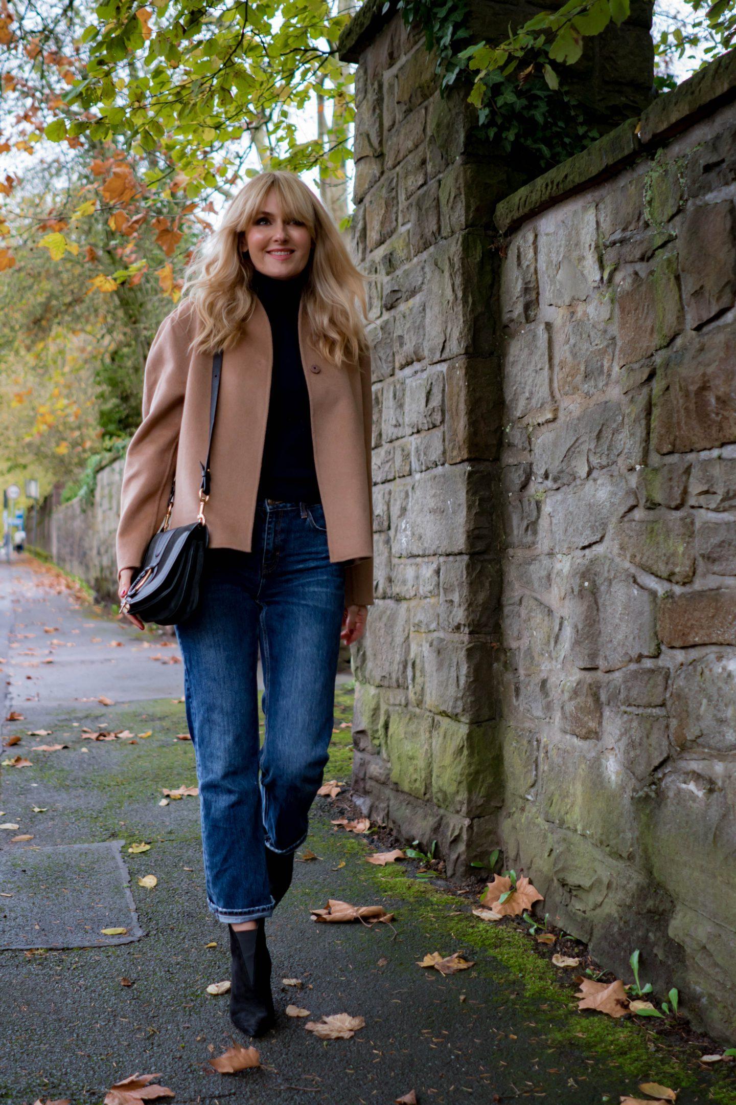 Herbstlook 2019 - Jacke aus Wolle & Kaschmir von H&M Premium - Nowshine Modeblog ü40
