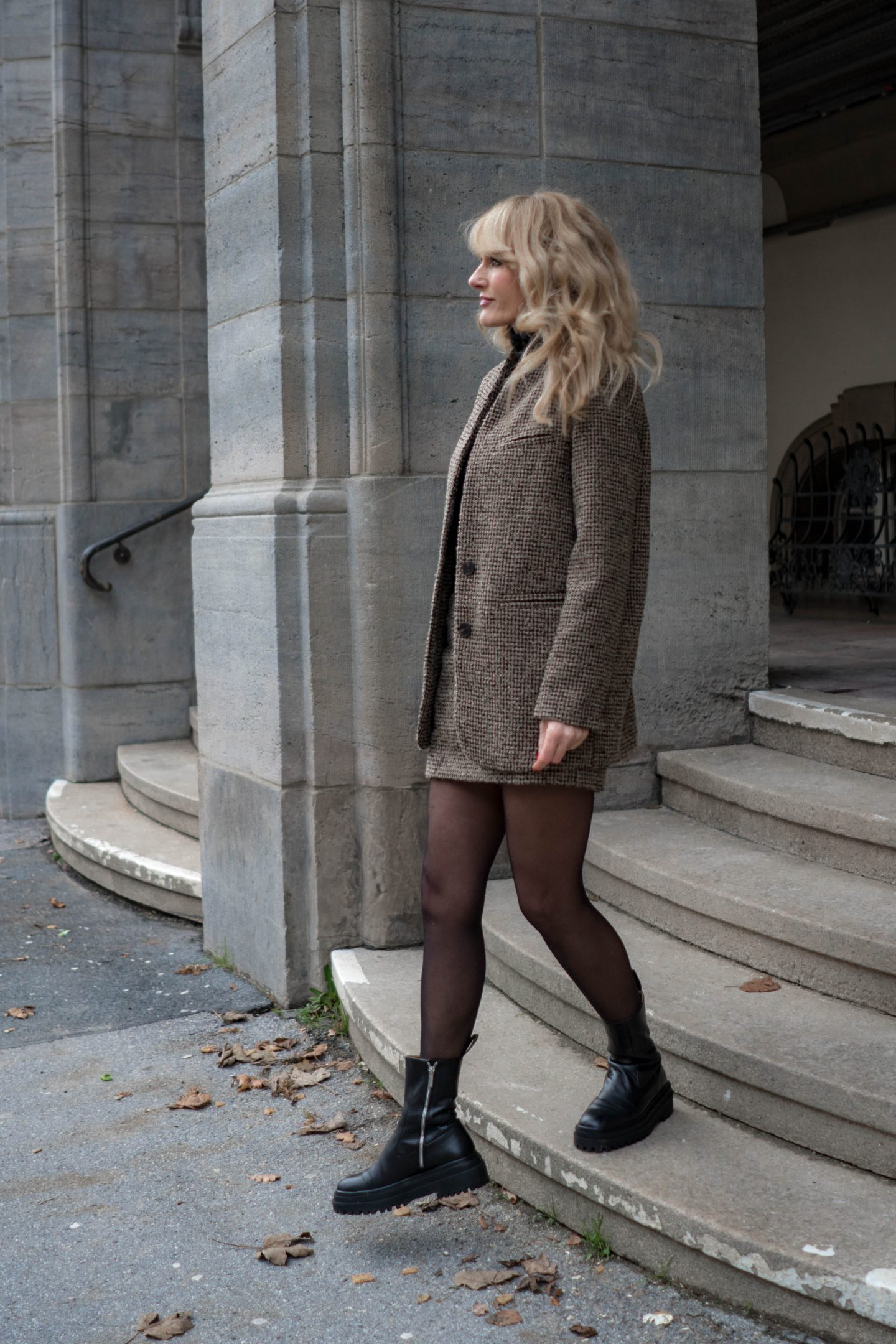 Chunky Boots zu Tweed - Ugly Boots - Nowshine Fashion Blog über 40