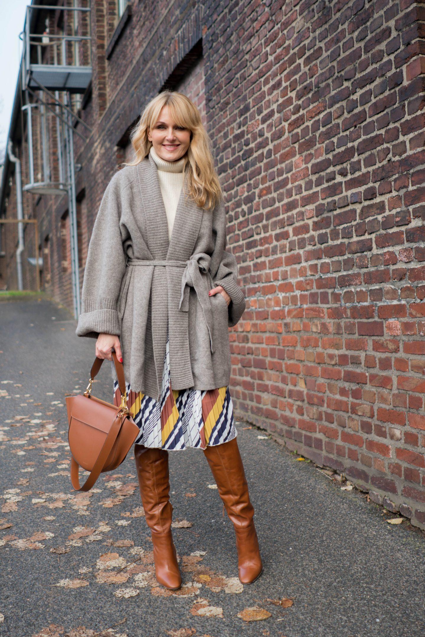 Sommerkleid im Winter tragen - Kleid von Amy Vermont, Wenz winterlich gestylt - Nowshine Fashion Blog