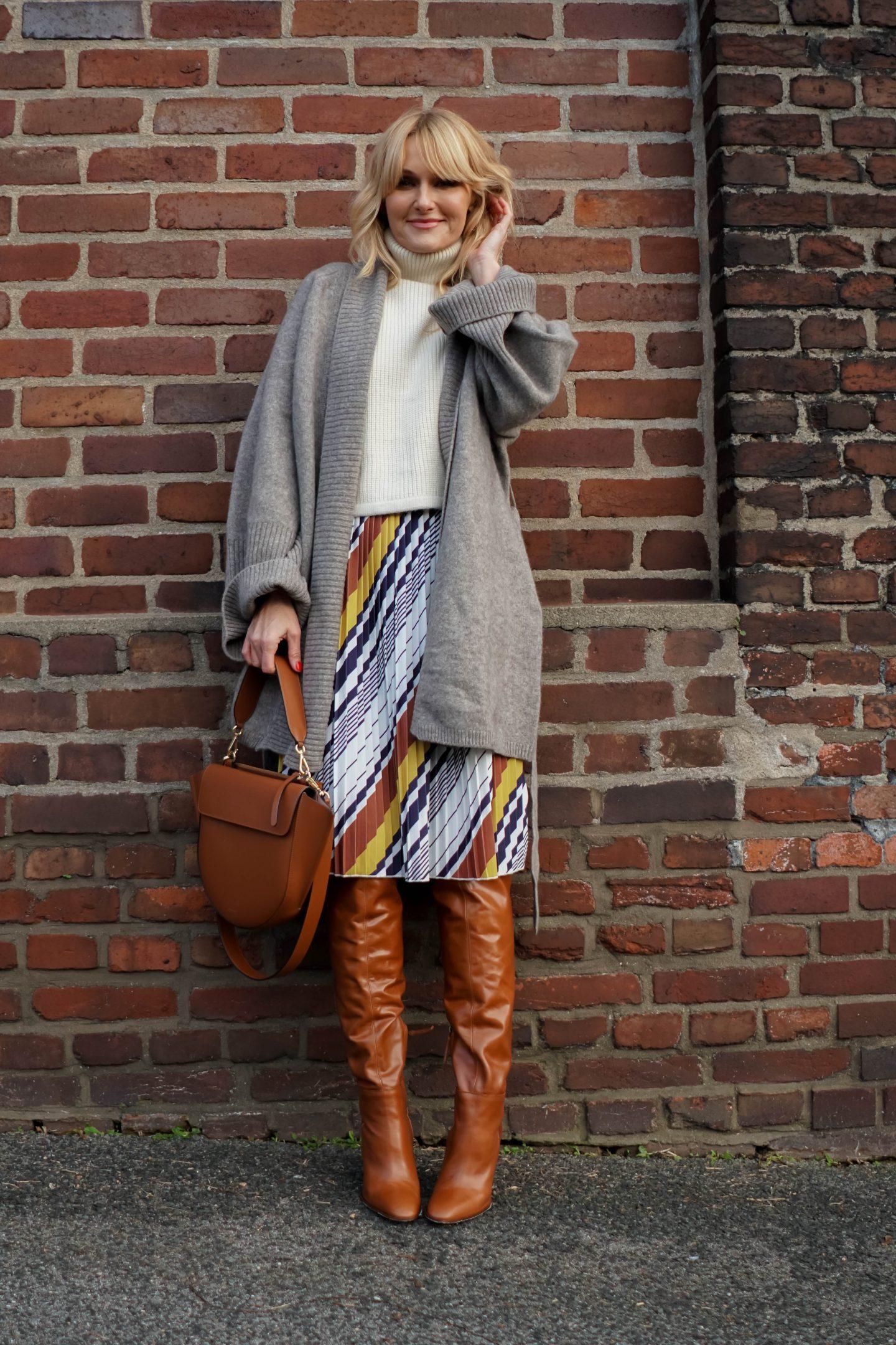 Sommerkleid von Amy Vermont, Wenz winterlich gestylt - Nowshine Fashion Blog