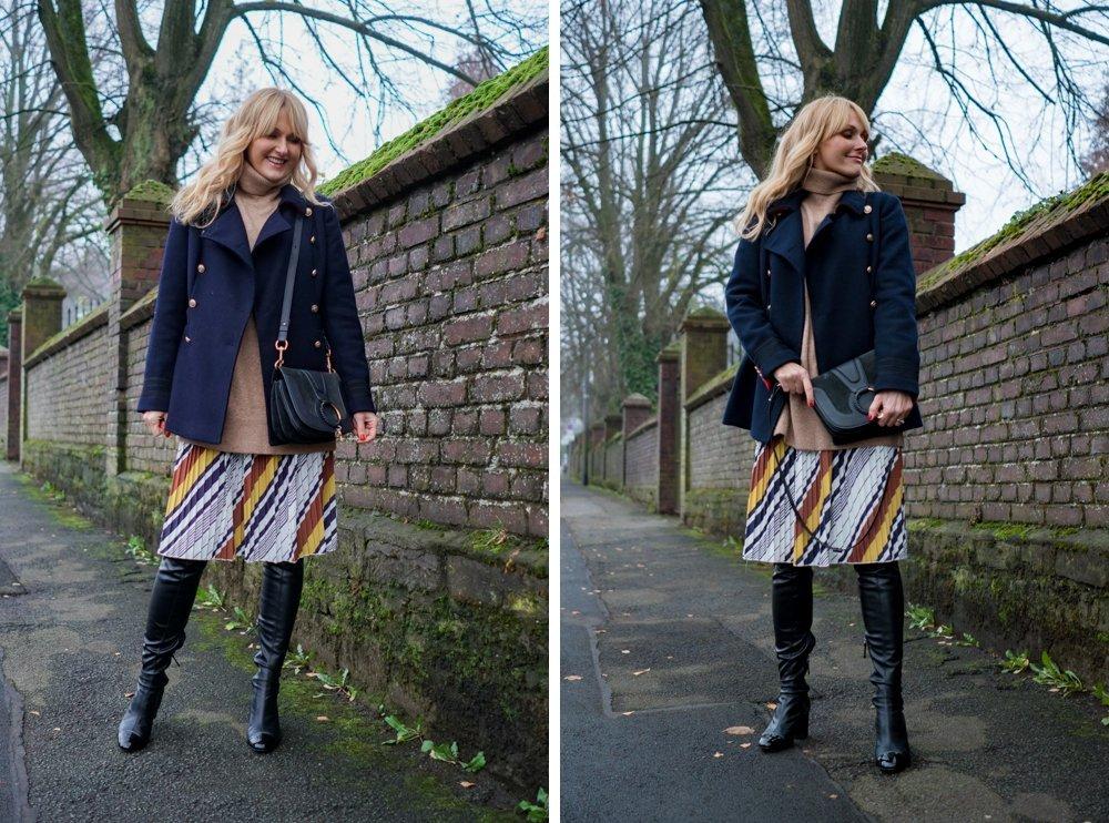 Sommerkleid im Winter tragen - Kleid von Amy Vermont, Wenz winterlich gestylt - Nowshine Fashion Blog -