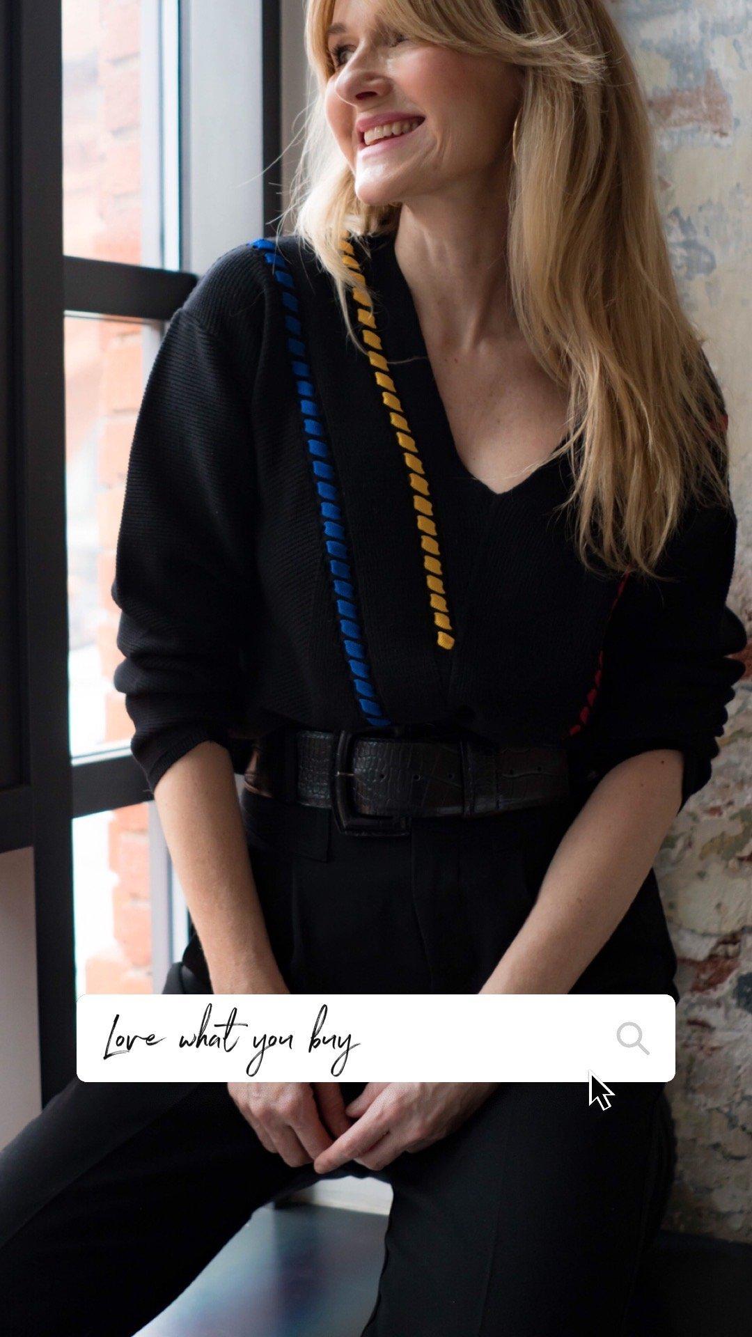 Schwarzer Pulli von Amy Vermont-Nowshine ü40 Blog im Andels Hotel Lodz